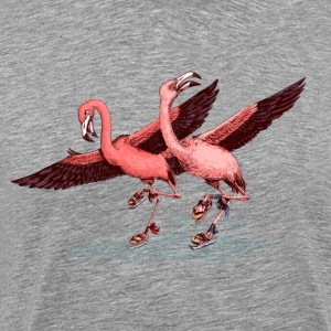 flamingo ice skaters Tee shirts - T-shirt Premium Homme