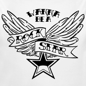 Wanna Be A Rock Star - Black - Baby Bio-Langarm-Body