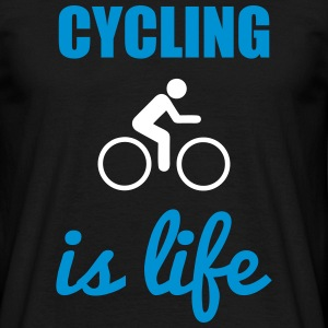 Cycling is life Bicicleta - Camiseta hombre
