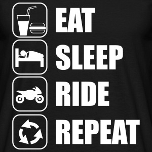 Eat,sleep,ride,repeat moto motard - T-shirt Homme