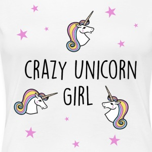 Crazy Unicorn Girl - Women's Premium T-Shirt