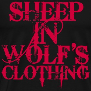 Sheep In Wolf's Clothing - Red - Männer Premium T-Shirt