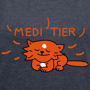MEDIE TIER (a) T-Shirts - Women's T-shirt with rolled up sleeves