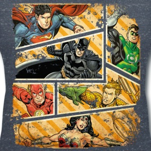 DC Comics Justice League Comic Book Panels - T-skjorte med V-utsnitt for kvinner