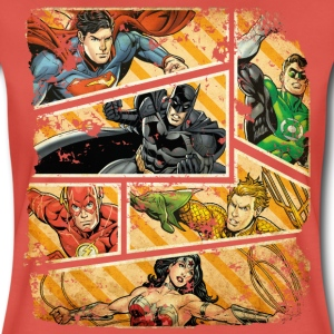 DC Comics Justice League Comic Book Panels - Premium T-skjorte for kvinner