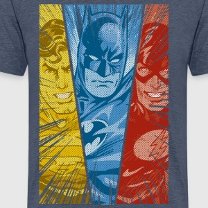 DC Comics Justice League Superman Batman Flash - Mannen Premium T-shirt