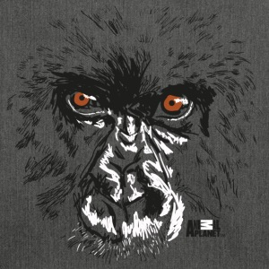 Animal Planet Primates Apes Gorilla Portrait - Shoulder Bag made from recycled material