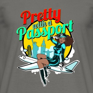 Pretty_with_passport-01 - T-shirt Homme