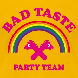 Bad Taste Party Team (Einhorn, Regenbogen, Cooper) T-Shirts - Frauen Premium T-Shirt