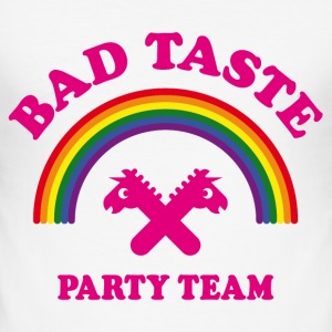 Bad Taste Party Team (Einhorn, Regenbogen, Cooper) T-Shirts - Männer Slim Fit T-Shirt