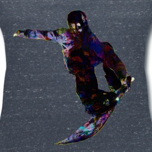Colored snowboarders - Women's V-Neck T-Shirt