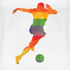Colored footballers - Women's Premium T-Shirt