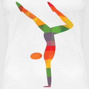 Colored gymnast - Women's Premium T-Shirt