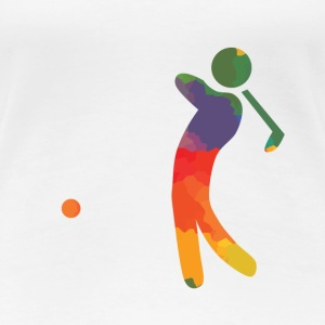 Colored golfer - Women's Premium T-Shirt