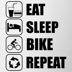Eat,sleep,bike,repeat Fahrrad  - Tasse