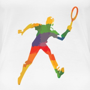 Coloured tennis player - Women's Premium T-Shirt