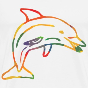 Coloured Dolphin - Men's Premium T-Shirt