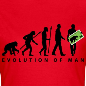 evolution_briefmarkensammler_11_201601 T-Shirts - Frauen T-Shirt