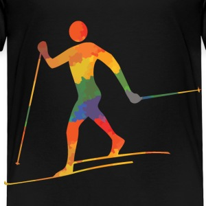 Colored cross-country skiers - Kids' Premium T-Shirt