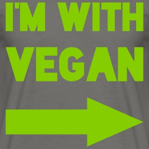 I'M WITH VEGAN T-Shirts - Männer T-Shirt