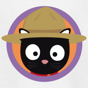 Park Ranger cat in purple circle Shirts - Kids' T-Shirt