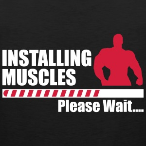 Installing muscles Top Tank Funny Gym - Men's Premium Tank Top