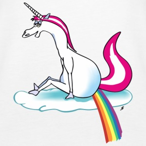 Unicorn pooping rainbow Topy - Tank top damski Premium