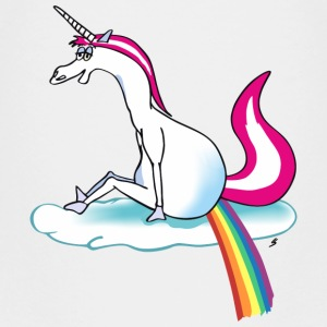 Unicorn pooping rainbow - Enhjørningen T-shirts - Teenager premium T-shirt