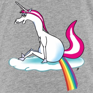 Unicorn pooping rainbow T-shirts - Premium-T-shirt barn