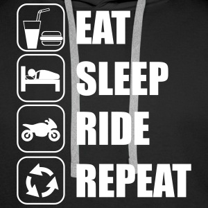 Eat,sleep,ride,repeat Moto Moatrd - Sweat-shirt à capuche Premium pour hommes