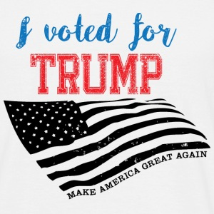 I voted for TRUMP T-skjorter - T-skjorte for menn