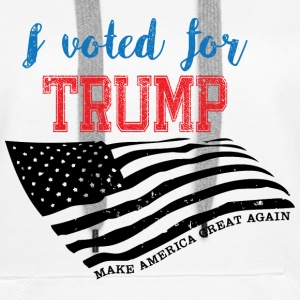 I voted for TRUMP Gensere - Premium hettegenser for kvinner
