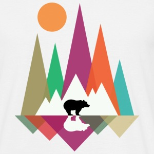 Hipster Mountains & Bear T-Shirts - Männer T-Shirt