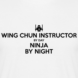 wing chun instructor day ninja by night - Men's T-Shirt