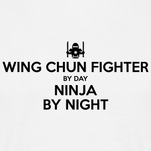 wing chun fighter day ninja by night - Men's T-Shirt