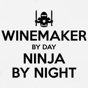 winemaker day ninja by night - Men's T-Shirt