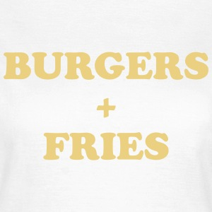 Burgers + fries T-shirts - Vrouwen T-shirt