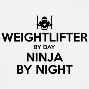 weightlifter day ninja by night - Men's T-Shirt