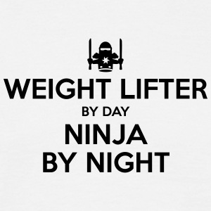 weight lifter day ninja by night - Men's T-Shirt