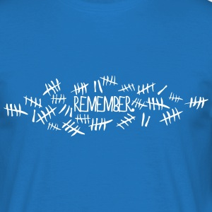 Doctor Who Remember Tally Marks T-Shirts - Men's T-Shirt