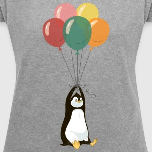 Fyling Penguin T-Shirts - Women's T-shirt with rolled up sleeves