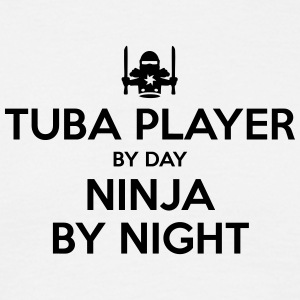 tuba player day ninja by night - Men's T-Shirt