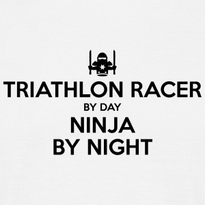 triathlon racer day ninja by night - Men's T-Shirt