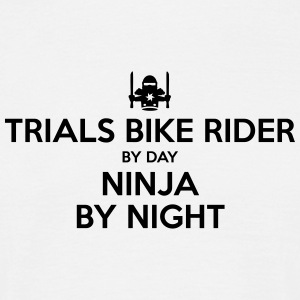 trials bike rider day ninja by night - Men's T-Shirt
