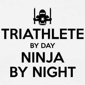 triathlete day ninja by night - Men's T-Shirt