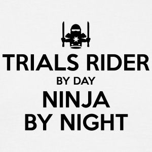 trials rider day ninja by night - Men's T-Shirt