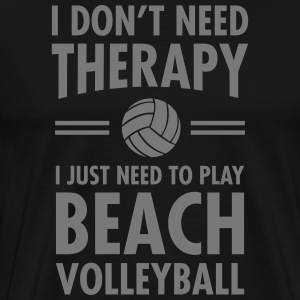 Therapy - Beach Volleyball T-Shirts - Männer Premium T-Shirt
