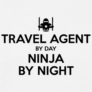 travel agent day ninja by night - Men's T-Shirt