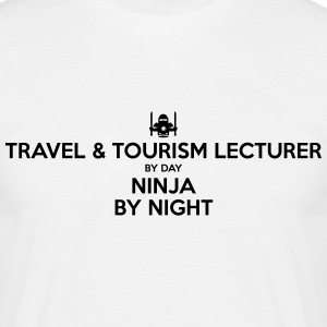 travel  tourism lecturer day ninja by ni - Men's T-Shirt