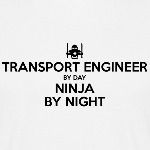 transport engineer day ninja by night - Men's T-Shirt
